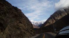 Camino hacia las montañas, Mendoza