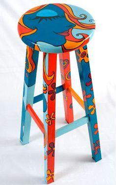 silla intervención en acrílico, via Flickr.SILLA-MARIA JUANA BOTERO Personalizadas, cada silla es única, me inspiro en quien la compra PRECIO: U$ 500