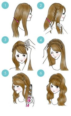 New hair peinados faciles easy hairstyles 36 ideas Cute Simple Hairstyles, Pretty Hairstyles, Headband Hairstyles, Braided Hairstyles, Drawn Hairstyles, Modern Hairstyles, Hair Braid Headband, Braided Headband Tutorial, Braided Headbands
