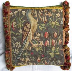Antique 19th Century Aubusson Mille Fleurs by FromAFrenchAttic