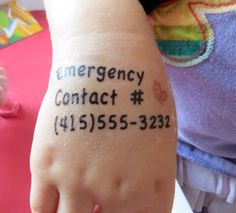 20 Kid Safety Tattoo Emergency Contact for Disneyland, fairs, festivals, malls - Butterfly on Etsy, $14.00