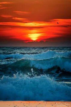 Amazing sunrise Eforie Nord Romania