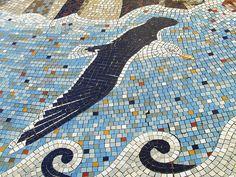 Seagull mosaic