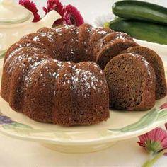 Makeover Chocolate Zucchini Cake
