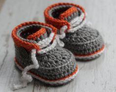 "Crochet PATTERN Baby Boys Modern Cool Booties ""Taika Boot"" Crochet Pattern for boys PATTERN ONLY"