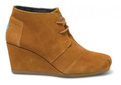 Chestnut Suede Women's Desert Wedges // Pair with flannel, tweed, jean, or whatever texture tickles your fancy!