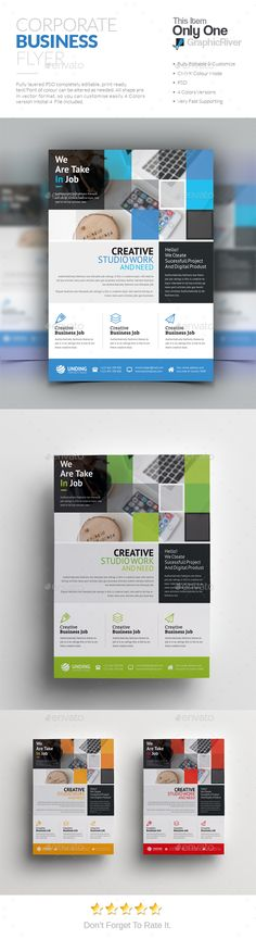 Corporate Flyer — Photoshop PSD #logo #liflet • Download ➝ https://graphicriver.net/item/corporate-flyer/19066488?ref=pxcr