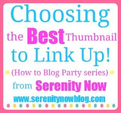 This is another great post for bloggers...from @Amanda {Serenity Now}