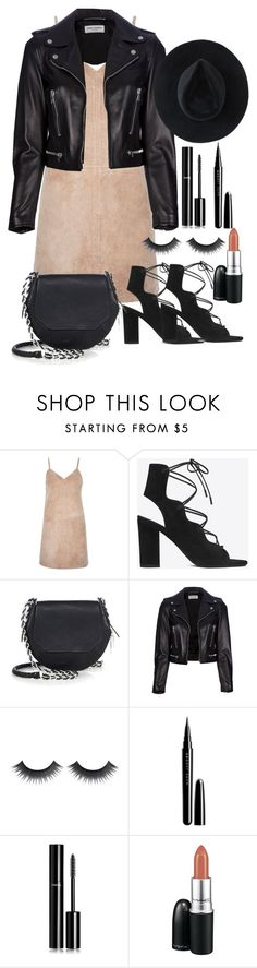 """Untitled #1898"" by ritavalente ❤ liked on Polyvore featuring River Island, Yves Saint Laurent, rag & bone, Marc Jacobs, Chanel, MAC Cosmetics and Ryan Roche"