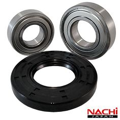 "Nachi Front Load Amana Washer Tub Bearing and Seal Kit Fits Tub W10261338 (5 year replacement warranty and full HD ""How To"" video included)"