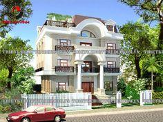 Mẫu dự án thiết kế biệt thự phố đẹp 3 tầng phong cách cổ điển