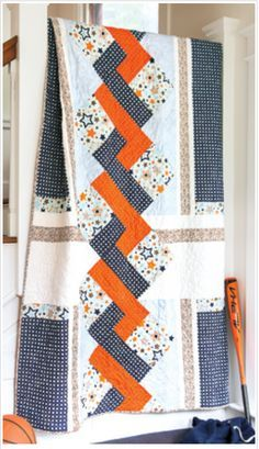 "FREE Pattern - Star Crossed Quilt by Yvette M Jones...made by Marian B. Gallian and machine quilted by Kathy Carbine. The project comes to us from Fons & Porter and the PDF download has everything you'll need to create this free quilt, and is great for any level of quilter. Isn't the faux braid wonderful? Finished Size: 68"" x 88.5""(173cm x 225cm) Skill Level: Beginner"