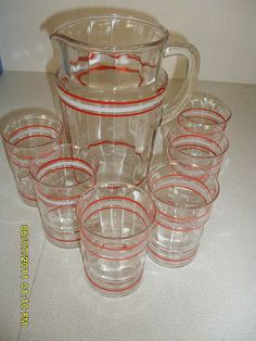 pitcher and glasses