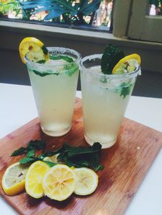 Ginger Mint Lemon Gin Cocktail