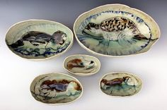 Honey Badger stacking bowl set by CambricClay on Etsy, $250.00