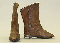Boots, leather and wool, 20th century, Armenian.