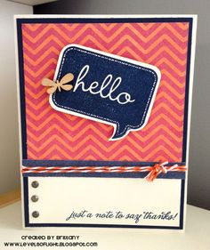 Thank You Card using Close to My Heart products