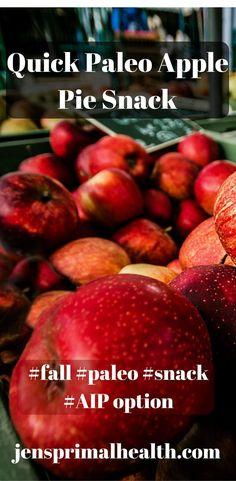 #apples #fall #holiday #quick #snack #breakfast #paleo #cinnamon #applepie #aip #jensprimalhealth