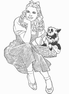 Wizard of Oz Coloring Pages --> For the top-rated adult coloring books and writing utensils including colored pencils, watercolors, gel pens and drawing markers, please visit http://ColoringToolkit.com. Color... Relax... Chill.
