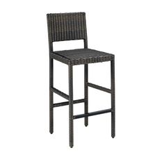riviera outdoor woven bar stool by home styles by home styles - Slate Cafe Ideas