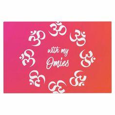 "KESS Original ""With My Omies Pink"" Coral Magenta Decorative Door Mat"
