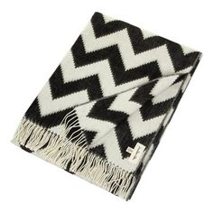 Jonathan Adler - Zig Zag Baby Alpaca Throw - Black