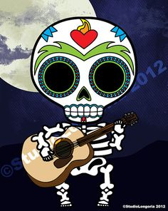 Dia De Los Muertos Boy Wall Art Print by StudioLongoria on Etsy, $12.99