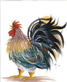 Susan Wymola: Painting Patterns in pdf Free. Love this chicken. Most of the rest isn't my style, but i like these feathers.
