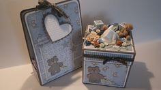 scrappehjertet.blogspot.no: DT Lene Suitcase, Scrapbooking, Phone, Baby, Telephone, Scrapbooks, Newborns, Suitcases, Infant