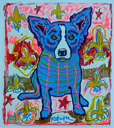 New Blue Dog Painting