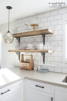reclaimed wood shelves - Google Search