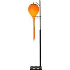 stilnovo: #orange floor lamp #vintage