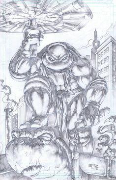 Teenage Mutant Ninja Turtles - Michelangelo by Emil Cabaltierra