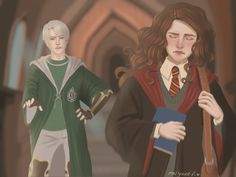 Hermione Fan Art, Draco Harry Potter, Harry Potter Ships, Harry Potter Anime, Harry Potter Hermione, Harry Potter Facts, Harry Potter Characters, Hermione Granger, Ron Weasley