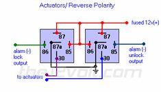 wire diagram negative door trigger relay with fade Relay Diagrams