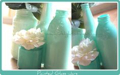 Painted Glass Jars ~ Simple Eco-Decorating