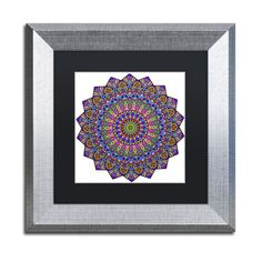 Trademark Art 'Mystical Mandala' by Kathy G. Ahrens Framed Graphic Art Size: 1