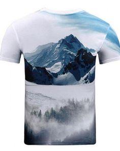 8d32133e607e 3D wolf t shirt for men short sleeve landscape t shirts Wolf T Shirt