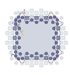 peyote bezels 101 - Square rivoli (12 mm)
