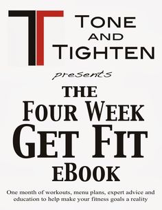 One entire month of healthy recipes, menu plans, and workouts! From Tone-and-Tighten.com