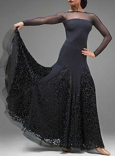 Ballroom Dance Dress Modern Waltz Standard Competition Black Dress S-XXL Latin Dance Dresses, Ballroom Dance Dresses, Ballroom Dancing, Flamenco Costume, Dance Costumes, Sexy Backless Dress, Tango Dress, Edwardian Dress, Dance Fashion