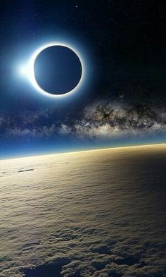 Solar eclipse from space~                                                                                                                                                                                 More