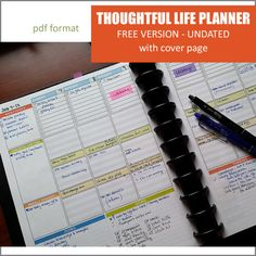 Free Printable Weekly Planner Pages | Becoming Christine Smith