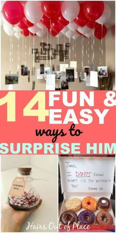 diy birthday gifts for him 14 DIY gifts for boyfriends that also make cute ways to surprise him for his birthday, an anniversary or these are awesome ideas for a homecoming proposal or promposal too. Diy Birthday Gifts For Him, Surprise Gifts For Him, Thoughtful Gifts For Him, Cute Valentines Day Gifts, Diy Gifts For Friends, Valentines Surprise For Him, Birthday Diy, Anniversary Surprise For Him, Birthday Ideas For Husband