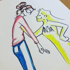 Vi capita mai? Video speed-draw qui: https://youtu.be/rtwQLe1ewyU #disegno #drawing #drawings #draw #schizzo #scarabocchio #sketch #comic #ansia #anxiety #exam #exams #esami #studio #study #speeddraw #speeddrawing