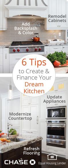 Remodeling your kitchen? Think modern countertops, updated appliances and beyond. These 6 updates can turn a dated space into a culinary sanctuary. Here's what you need to know to renovate and finance your dream kitchen.