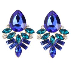 HOT HOT HOT Women's fashion earrings New arrival brand sweet metal with gems Handmade Rhinestone earring for girls