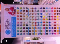 A display of all the Martha Stewart craft paints
