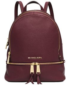 2db56d2c8 Michael Kors Rhea Zip Small Backpack & Reviews - Handbags & Accessories -  Macy's