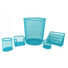 Shop for Turquoise Metal Mesh Desk Organizer Set. Get free delivery On EVERYTHING* Overstock - Your Online Desk Accessories Destination! Desk Organizer Set, Desk Organization, Affordable Storage, Metal Mesh, Wire Mesh, Desk Set, Organizing Your Home, Staying Organized